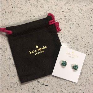 Kate Spade glitter gumdrop stud earrings